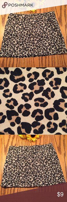 Faded Glory girls leopard skirt. Size 12 Like new Faded Glory girls leopard skirt. Size 12.  Cotton with 1% spandex Faded Glory Bottoms Skirts
