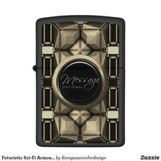 Shop Futuristic Sci-Fi Armour 8 Options Zippo Lighter created by Ronspassionfordesign. Custom Lighters, Lighter Fluid, Design Guidelines, Zippo Lighter, Stay Classy, Polished Chrome, Futuristic, Armour, Sci Fi