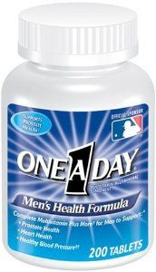 One-A-Day Men's Health Formula Tablets, 200-Count Bottles (Pack of 2) by One-A-Day. $37.23. Dietary supplement for men; helps promote healthy prostate and heart. Please read all label information on delivery. Contains Lycopene, a cell-protecting antioxidant. Contains calcium, magnesium, potassium, and vitamin C to help maintain normal blood pressure. Chromium and B vitamins for the release of energy from food. From the Manufacturer                Dietary Supplement Feel Your Best...