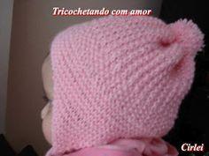 Tricochetando com amor: Gorro Laurinha tapa orelhinhas em tricô