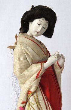 Antique Japanese Hina Doll Court Lady