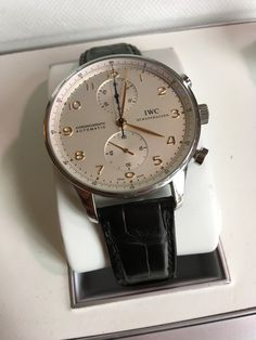 IWC Portuguese Chronograph Silver Dial Men's Watch for sale online Gents Watches, Watches For Men, Iwc, Silver Man, Portuguese, Omega Watch, Chronograph, The Originals, Luxury