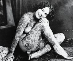 vintage tattoo portrait