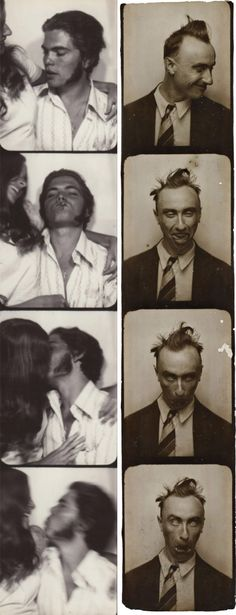 Behind the Curtain: Gorgeous Vintage Photo Booth Art