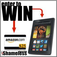 WIN an Kindle or $25 Amazon Gift Card