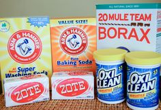 Homemade laundry soap powder (1 year supply!) Don't really need the OxiClean since you're already using baking soda