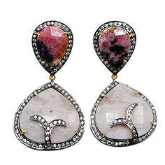 Silvesto Jaipur Dendrite Opal, CZ & Rhodhonite 925 Sterling Silver Gold Plated Earrings Jewelry PG 4485 Silvesto Jaipur http://www.amazon.com/dp/B01BNB6JEA/ref=cm_sw_r_pi_dp_ctXVwb1AVXRYD