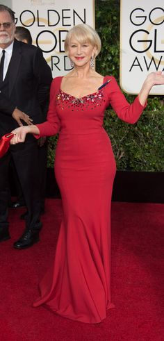 Helen Mirren at the 2015 Golden Globe Awards