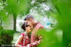 Before their Indian wedding, this bride and groom pose for lovely portraits.