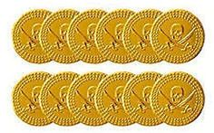Children kids boys #pirate plastic gold #treasure coins party loot bag #fillers!,  View more on the LINK: http://www.zeppy.io/product/gb/2/400959488228/
