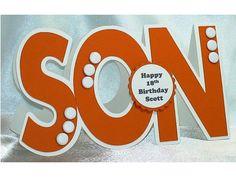 Son birthday card  handmade personalised by LouisesCardsandGifts