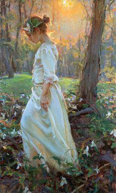 Joven en el bosque Paintings by Daniel F. Gerhartz