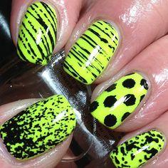~Iwantsummer~  nailart!!! #pretty #bright #neonmania #neon #hashtagsforlikes #instacute #likeit #punk #styles #stylish #trends #polkadots #lines #yellow #colors #nails #nailart #nailpolish #naildesigns #nice #photooftheday #picture - @cute_nailz_21- #webstagram