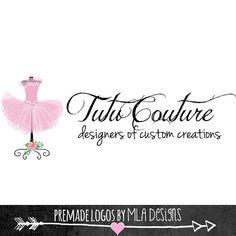 Tutu Couture Logo Design Tutu Logo Custom Logo door MLAdesigns