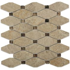 octave pattern hexagon light emperidor with dark emperidor dot glass tile