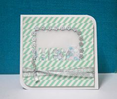 Hey - Shaker Card. sequins and washi tape.