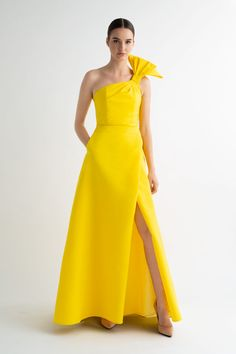 Silk faille wrap gown. Available in 10 different colors!
