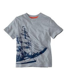 Look what I found on #zulily! Heather Gray Ship On-the-Go Tee - Infant, Toddler & Boys #zulilyfinds