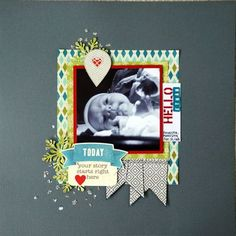 Today Layout by Emily Pitts via Jillibean Soup Blog