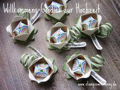stampin with fanny: Willkommens-Goodies für die Hochzeit (den Workshop) mit Ferrero-Küsschen