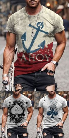 T shirts are a staple in any man's wardrobe, and we have a big range of t-shirts to keep you stocked up & in style! Shop the range now. #tshirt #shirts #men Casual T Shirts, Cool Shirts, Men Casual, Mature Mens Fashion, Veteran T Shirts, Cooler Look, Cyberpunk Fashion, Winter Fashion Casual, T Shirt Designs