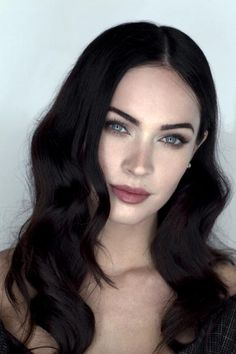 Megan Fox..I absolutely LOVE her natural makeup looks and her dark hair!