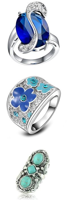 50 shades of blue! Check out these beautiful rings. Just click on the picture.