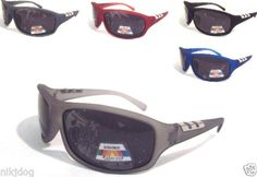 Polarized-Sunglasses-Sports-Wrap-Smoked-Lenses-Assorted-Matte-Frame-Colors