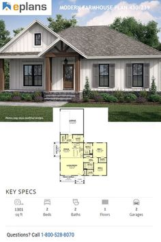 Black Friday Starts Now - Enjoy 15% off thousands of house plans (like this modern farmhouse plan). Questions? Call 1-800-528-8070 today. #architect #architecture #buildingdesign #homedesign #residence #homesweethome #dreamhome #newhome #newhouse #foreverhome #interiors #archdaily #modern #farmhouse #house #lifestyle #designer