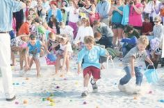 The Sandbar Restaurant on Anna Maria Island hosts an annual Easter Egg Hunt perfect for a fun Easter morning on the beach with the kids!