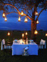 Go Glamping, I love this romantic dinner setting.