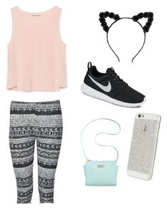 """""""Untitled #3"""" by graceelliott78 ❤ liked on Polyvore featuring Ally Fashion, Zara, Marc Fisher and NIKE"""