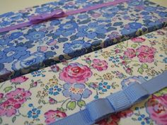 Sew Sweet Violet .... liberty covered boxes