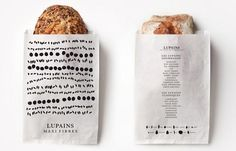 """""""Lupains Bakery Bread Packaging Designed by Les Bons Faiseurs"""" Bread Packaging, Bakery Packaging, Cool Packaging, Bakery Branding, Takeaway Packaging, Rice Packaging, Design Packaging, Bakery Design, Food Design"""