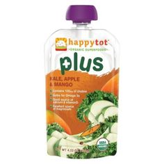 Happy Baby Happy Tot Organic Baby Food Pouch - Kale, Apple & Mango (16 Pack)