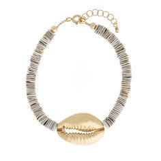 Gold Cowrie Oyster Shell Bracelet – Wahine Rox