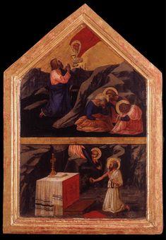 Masaccio (1401-1428) ~  Christ in the Garden of Gethsemane ~ 1424-25 ~ Tempera on wood ~ Lindenau-Museum, Altenburg