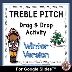 Music Distance Learning | TREBLE PITCH Drag and Drop WINTER Activities Child Teaching, Piano Teaching, Music Worksheets, Worksheets For Kids, Music Activities, Winter Activities, Teacher Resources, Classroom Resources, Space Music
