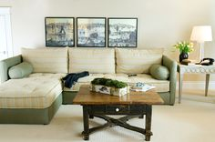 DIY mattress sectional - use XL twin mattresses and upholster the boxes with laminated cotton