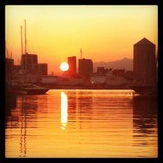 Sunset in Genoa Genoa, Sunsets, New York Skyline, Travel, Viajes, Destinations, Traveling, Trips, Sunset