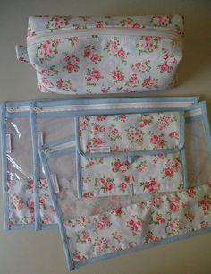 Floral básico Sewing Room Furniture, Sewing Rooms, Love Sewing, Sewing For Kids, Sewing Kit, Porta Lingerie, Fabric Storage Boxes, Small Sewing Projects, Applique Fabric
