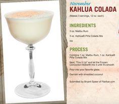 This Kailua Colada is delicious for a Sunday Margaritaville® flavor! Margaritaville Machine Recipes, Margaritaville Frozen Concoction Maker, Malibu Rum Drinks, Bar Drinks, Beverages, Mixed Drinks Alcohol, Alcohol Drink Recipes, Refreshing Drinks, Summer Drinks