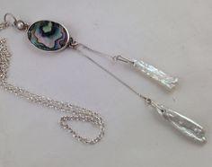 I do magic in metal  Collar, plata, perlas de rio y concha nácar. Diseño Mexicano.