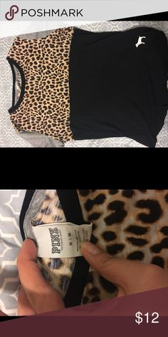 PINK color block tee Colorblock PINK t-shirt. Still in good condition, nothing wrong with the shirt and no scuffs or stains PINK Victoria's Secret Tops Tees - Short Sleeve