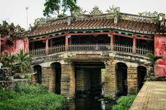 Bridge in Hoi An, Vietnam. Compare this to the Rialto Bridge in Venice, Italy.