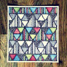 Rebecca Blair; Jungle Pattern, Art Piece in Pen and Pencil