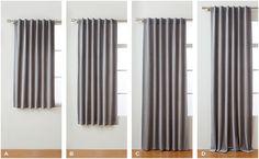Common curtain lengths