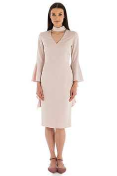 Dresses - BLUSH SATIN CREPE SENORINA DRESS
