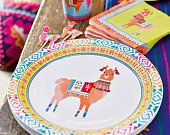 Items similar to Llama Decorations, Bohemian Decor, Boho Cake Toppers, First Fiesta Decor, Boho Birthday Party Supplies on Etsy Party Napkins, Party Plates, Party Cups, Fiesta Party Decorations, Party Themes, Party Ideas, Theme Parties, Boho Baby Shower, Bridal Shower