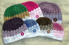 Ravelry: Les Trois Rayures (Three Stripes) Beanie ~ Newborn to Adult Sizes pattern by ag handmades